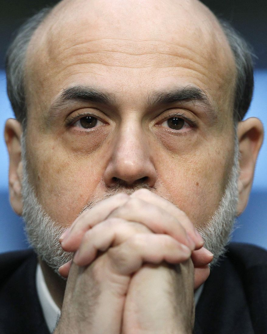 RESOLUTE: Federal Reserve Chairman Ben S. Bernanke recommends against deep spending cuts this year. (Associated Press)