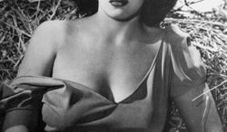 """Jane Russell found stardom in """"The Outlaw,"""" a Western produced by the eccentric billionaire Howard Hughes.  (AP Photo)"""