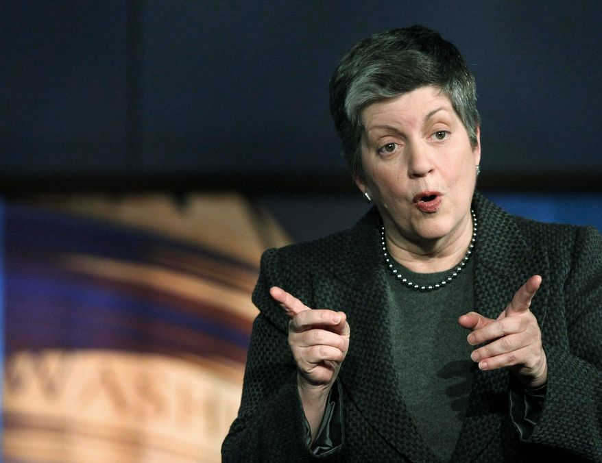 """When a Republican lawmaker took issue Wednesday with Homeland Security Secretary Janet Napolitano's assessment of proposed funding levels, she noted the """"strong difference of opinion."""" (Associated Press)"""