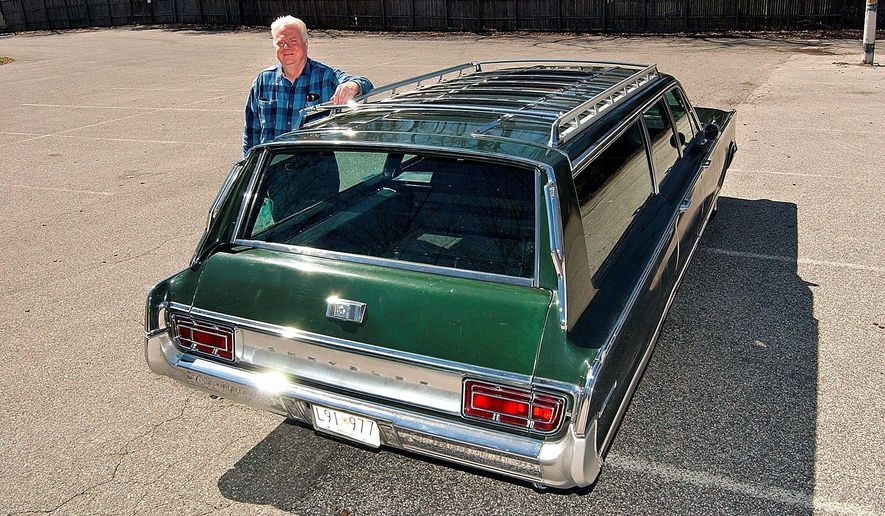 From childhood, Eric Wolfe has been attracted to 1966 Chrysler products, the latest a station wagon.