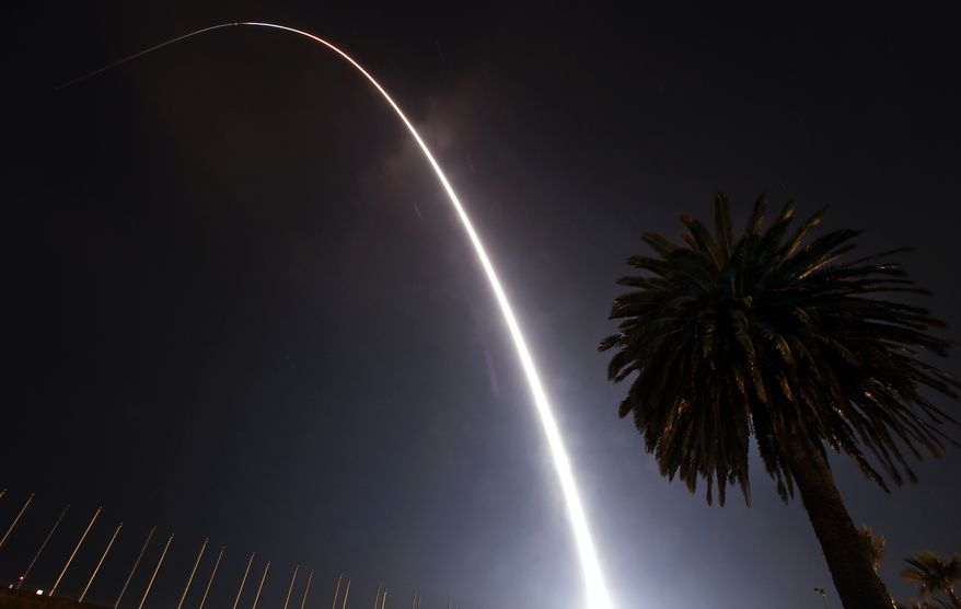The Taurus XL rocket that blasted off carrying NASA's Glory satellite from Vandenberg Air Force Base early Friday March 4, 2011, failed to reach orbit. NASA says in a statement that a protective shell atop the rocket did not separate from the satellite as it should have about three minutes after the launch. (AP Photo/Bryan Walton - Santa Maria Times)
