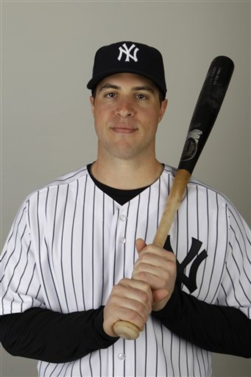 FILE - This is a 2011 file photo showing New York Yankees baseball player  Mark Teixeira. Teixeira has ended his relationship with longtime agent Scott Boras. Teixeira made the announcement before Wednesday's March 2, 2011 spring training game against Houston. (AP Photo/Charlie Neibergall, File)