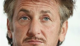 In this Feb. 14, 2011 photo, actor Sean Penn attends a news conference about the Cinema For Peace fund raising gala in Berlin. Sean Penn says he thinks Charlie Sheen could do a lot of good in Haiti, both for himself and the nation struggling to recover from a devastating earthquake, Friday, March 4, 2011.  (AP Photo/Markus Schreiber)