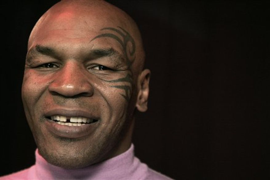 Mike Tyson poses for a portrait Thursday, March 3, 2011 in New York.  (AP Photo/Jeff Christensen)