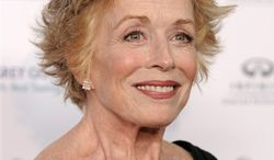 """FILE - In this Aug. 27, 2010 file photo, actress Holland Taylor from the comedy series, """"Two and a Half Men."""" arrives at the 62nd Primetime Emmy Awards Performers Nominee Reception in West Hollywood, Calif. (AP Photo/Chris Pizzello, file)"""