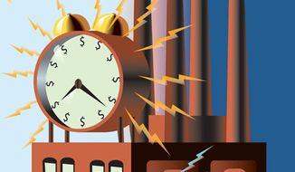 Illustration: Daylight saving time by Linas Garsys for The Washington Times