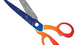 Illustration: GOP cuts by Greg Groesch for The Washington Times