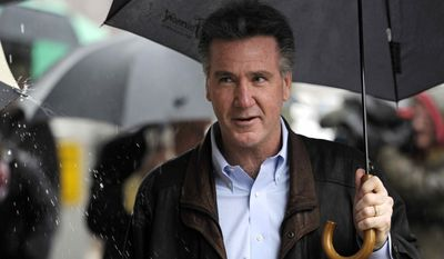 Washington Redskins General Manager Bruce Allen arrives at the Washington offices of the Federal Mediation and Conciliation Service for contract negotiations with the NFL Players Association, Thursday, March 10, 2011. (AP Photo/Cliff Owen)