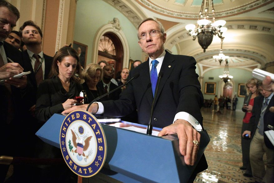 "Senate Majority Leader Harry Reid, Nevada Democrat, said a GAO study on government waste and duplication was ""a step in the right direction"" and was something that ""over the long term that could save some money."" (Associated Press)"