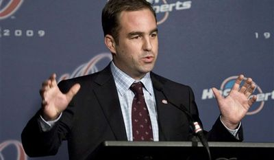 FILE - In this Dec. 1, 2009, file photo, Montreal Canadiens chairman Geoff Molson speaks during a news conference in Montreal. Molson met with his players Monday, March 14, 2011, to explain why he criticized the NHL after it did not punish Boston's Zdeno Chara for a hit that severely injured Montreal's Max Pacioretty. (AP Photo/The Canadian Press, Paul Chiasson, File)