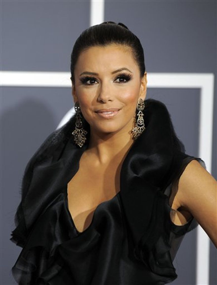 FILE - In this Feb. 13, 2011 file photo, actress Eva Longoria arrives at the 53rd annual Grammy Awards in Los Angeles. (AP Photo/Chris Pizzello, file)