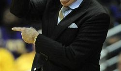 FILE - This Feb. 7, 2010, file photo shows LSU coach Van Chancellor giving instructions during the first half of LSU's NCAA college basketball game against Mississippi, in Baton Rouge, La.  Van Chancellor is stepping down and now will serve as special assistant to the athletic director. The school announced the move on Wednesday afternoon, March 16, 2011. (AP Photo/Mark Saltz, File)