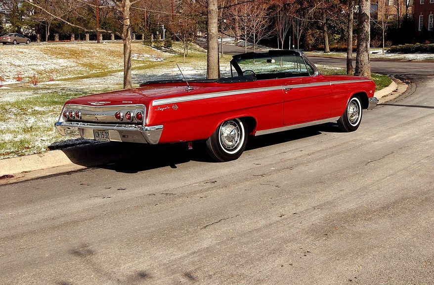 The handsome Chevrolet Impala Super Sport convertible is supported on a 119-inch wheelbase. (Bill O'Brien/The Washington Times)