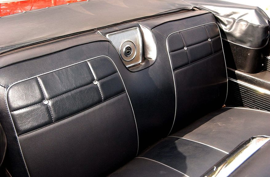 The black vinyl interior is just as the current owner remembered. (Bill O'Brien/The Washington Times)