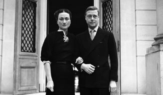 Before World War II forced their departure, the Duke and Duchess of Windsor lived in France where they were photographed early in 1939 in Cannes. The duke, who abdicated the British throne in 1936, died in 1972 and his wife in 1986. (Associated Press)