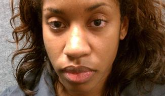 Brittany Norwood is a suspect in the murder of her co-worker. (Credit: Montgomery County Police.)