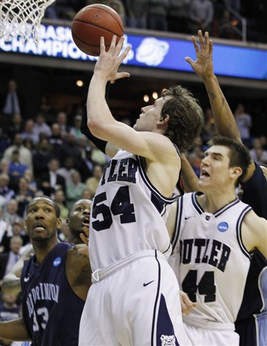 Butler forward Matt Howard (54) at the Verizon Center in Washington. (AP Photo)