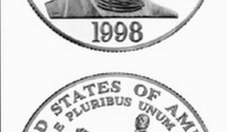 The U.S. Mint issued a commemorative coin to jump-start fundraising for the nonprofit Black Patriots Foundation featuring an image of Crispus Attucks. (U.S. Mint photograph)