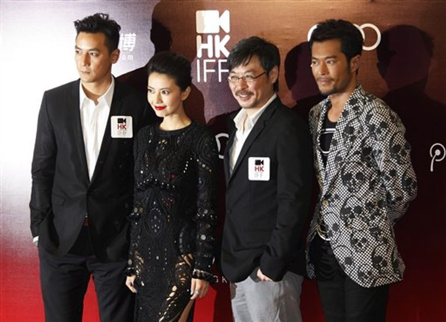 "Chinese director Chen Kaige speaks at a promotional event of his latest movie ""Sacrifice"" in Hong Kong Tuesday, March 22, 2011 as part of the events in the Hong Kong International Film Festival.  (AP Photo/Kin Cheung)"