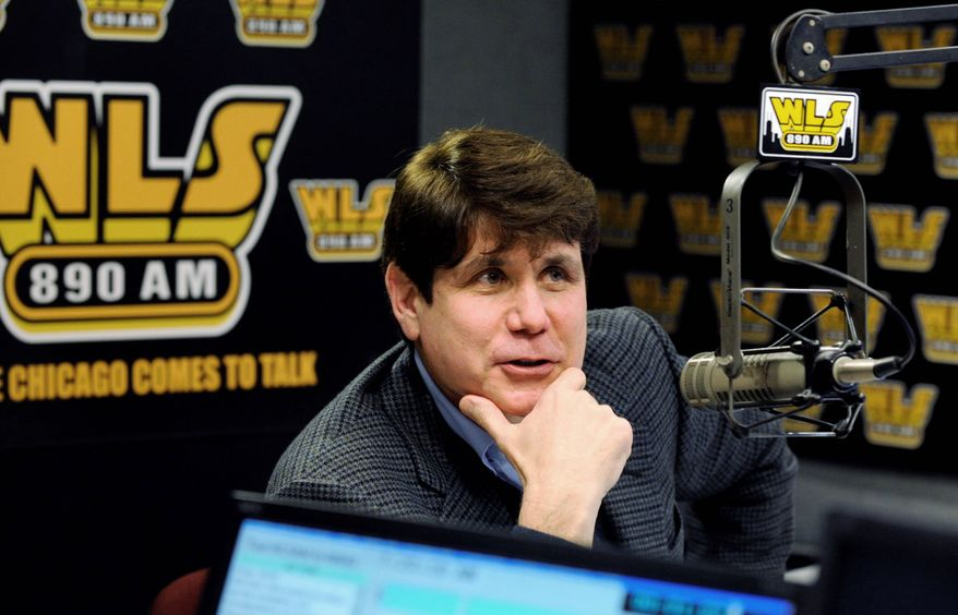 """Ousted Illinois Gov. Rod R. Blagojevich is a guest host on WLS-AM's popular """"Don Wade and Roma"""" show recently in Chicago. A judge has turned down a motion to cancel Blagojevich's second corruption trial and proceed straight to sentencing the impeached former governor on a lone conviction from his first trial. (Associated Press)"""
