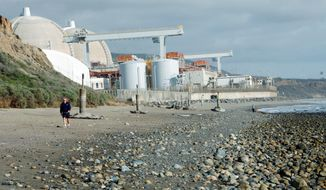 ** FILE ** The San Onofre nuclear power plant in San Diego County, Calif., is operated by Southern California Edison. (Associated Press)