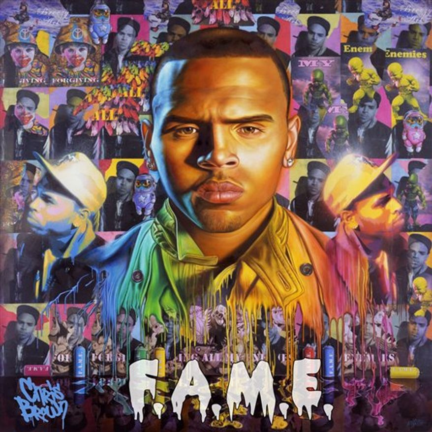 "In this CD cover image released by Jive, the latest release by Chris Brown, ""F.A.M.E.,"" is shown. (AP Photo/Jive)"
