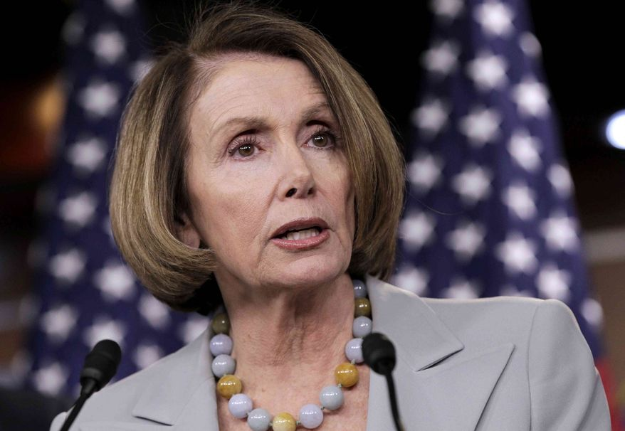 ** FILE ** In this Feb. 18, 2011, file photo House Minority Leader Nancy Pelosi of Calif., speaks on Capitol Hill in Washington. An Italian news agency says that Pelosi was hospitalized briefly in Rome with a minor ailment. (AP Photo/J. Scott Applewhite, File)