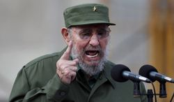 ** FILE ** Cuba's Fidel Castro delivers a speech during the 50th anniversary of the Committee for the Defense of the Revolution on Sept. 28, 2010, in Havana. Mr. Castro said on Tuesday, March 22, 2011, that he resigned five years ago from all his official positions, including head of Cuba's Communist Party, a position he was thought still to hold. (AP Photo/Javier Galeano, File)