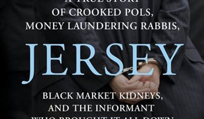 """In this book cover image released by St. Martin's Press, """"The Jersey Sting/A True Story of Corrupt Polls, Money-Laundering Rabbis, Black Market Kidneys, and the Informant Who Brought it All Down"""" , by Ted Sherman and Josh Margolin are shown. (AP Photo/St. Martin's Press)"""