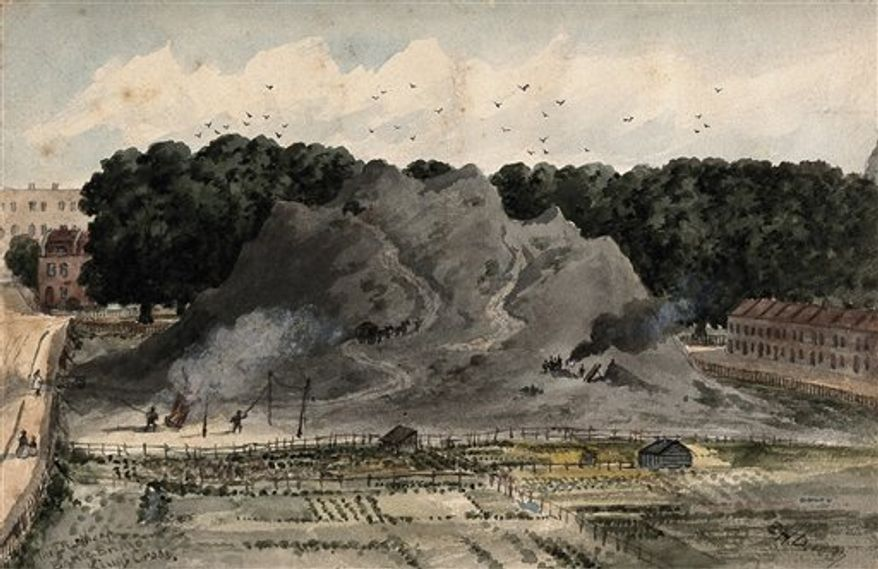 "In this image released by Wellcome Images Wednesday, March 23, 2011, a garbage mound at Fresh Kills landfill in the Staten Island borough of New York is seen. A major new museum exhibition in London asks visitors to think again about the filthy and the fetid, exploring the role of dirt as enemy and ally in history, art, science and medicine. ""Dirt: The Filthy Reality of Everyday Life"" at the Wellcome Collection, runs from Thurdsay to Aug, 31. (AP Photo/Wellcome Images, ho) EDITORIAL USE ONLY"