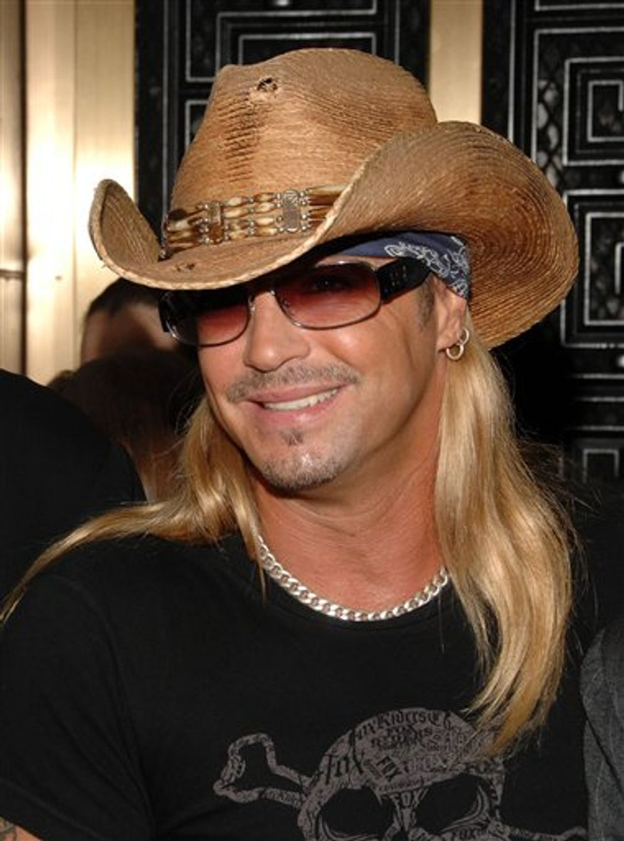 FILE - In this June 7, 2009 file photo, singer Bret Michaels arrive at 63rd Annual Tony Awards in New York.  (AP Photo/Peter Kramer, file)