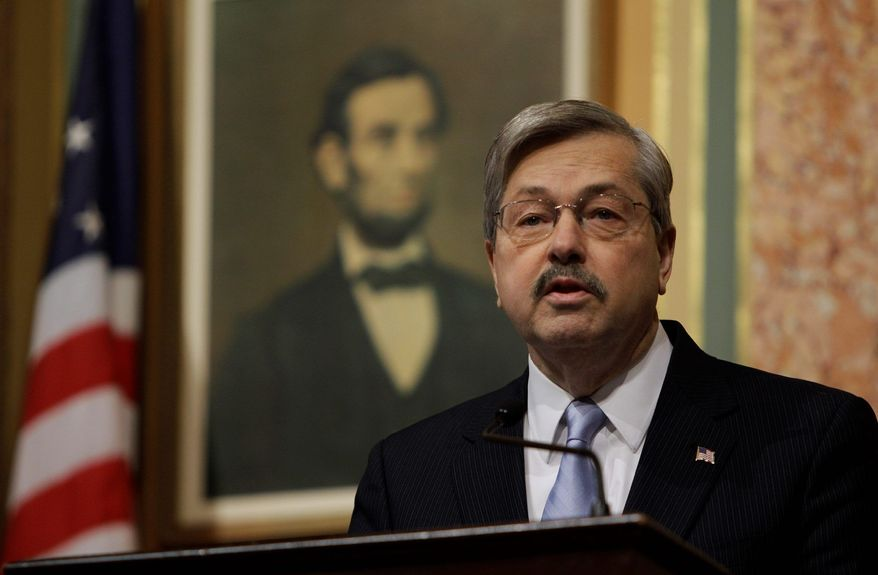 Associated Press Iowa Gov. Terry Branstad has signaled his intent to clash with state-employee unions on some issues, making the same point his Wisconsin counterpart has; namely, that some trimming of benefits will be necessary to prevent layoffs.