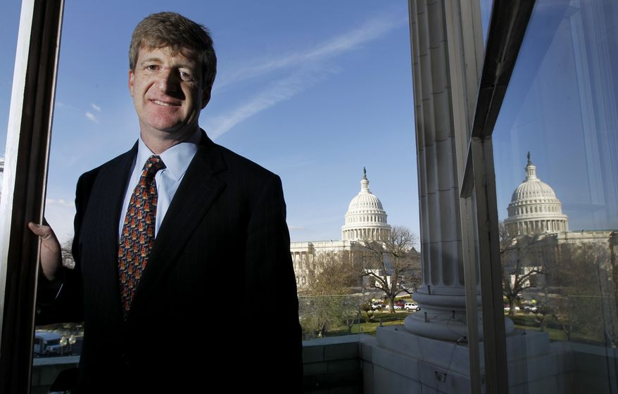 Former Rep. Patrick J. Kennedy, pictured on Capitol Hill in Washington in December 2010 before he left office, is engaged to be married to sixth-grade schoolteacher Amy Petitgout. Mr. Kennedy, Rhode Island Democrat, is a son of the late Sen. Edward M. Kennedy. (AP Photo/Alex Brandon)