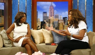 "In this March 24, 2011 publicity image released by The Wendy Williams Show, Star Jones, former co-host on the ABC daytime talk show ""The View"" and current contestant on NBC's ""The Celebrity Apprentice,"" appears with host Wendy Williams on ""The Wendy Williams Show,"" in New York. The program will air on Friday. (AP Photo/The Wendy Williams Show, Anders Krusberg)"