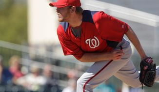 Washington Nationals reliever Cole Kimball, ranked by Baseball America as the Nats' No. 7 prospect, possesses the competitive fire teams love to see in potential closers. (Associated Press)