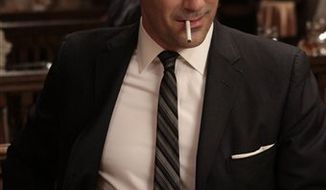 "Jon Hamm portrays advertising executive Don Draper in the AMC series ""Mad Men."" (AP Photo/AMC)"