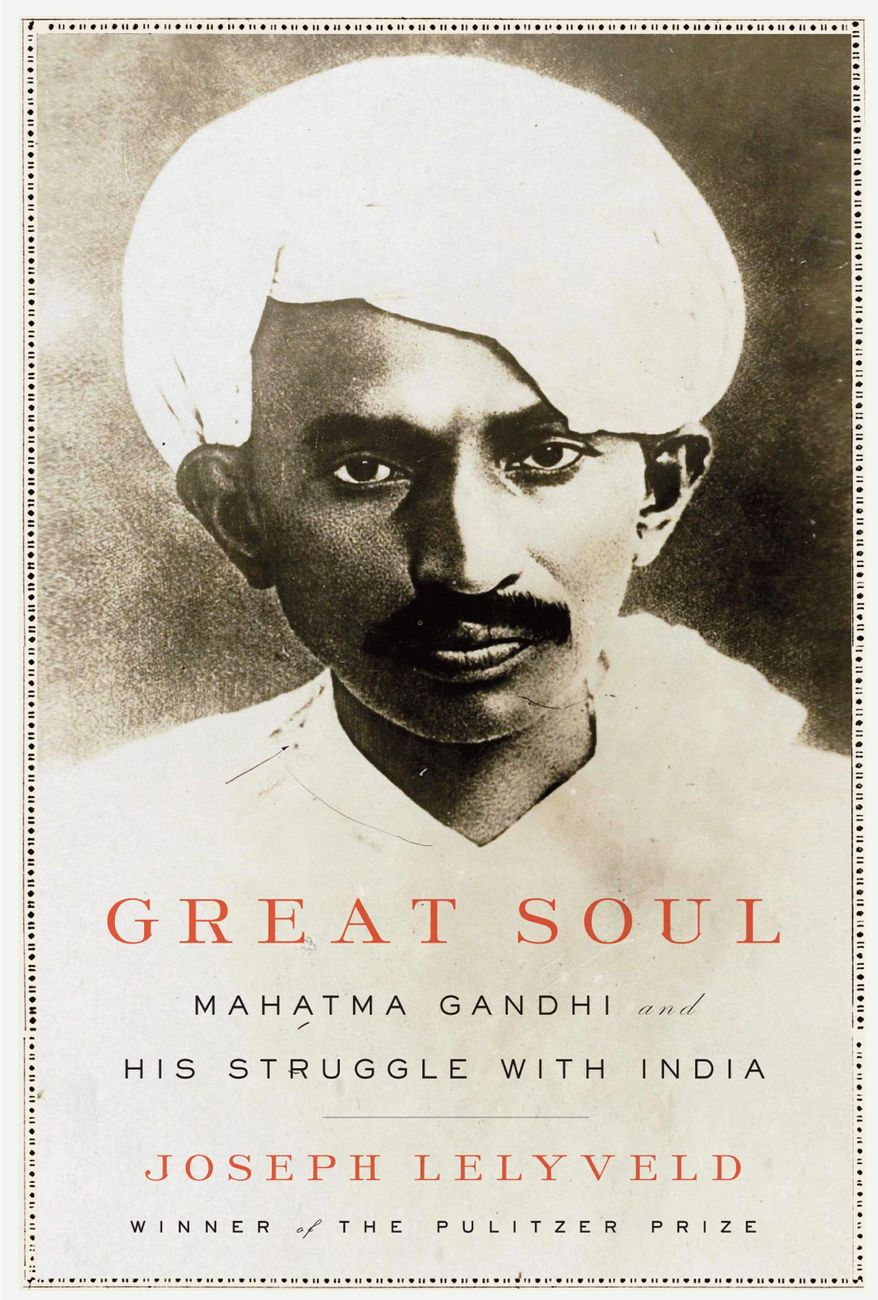 """Book cover image of Joseph Lelyveld's """"Great Soul: Mahatma Gandhi and His Struggle With India"""" (Associated Press/Knopf)"""