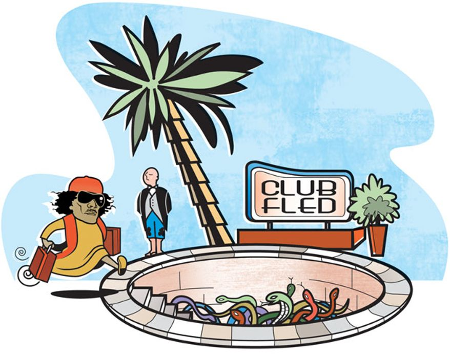 Illustration: Club Fled by Linas Garsys for The Washington Times