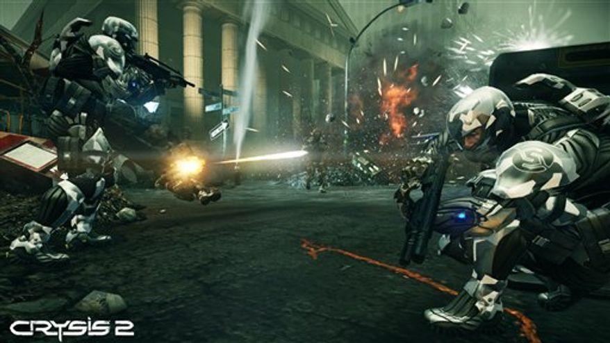 "In this video game image released by Electronic Arts, a scene is shown from ""Crysis 2."" (AP Photo/Electronic Arts)"