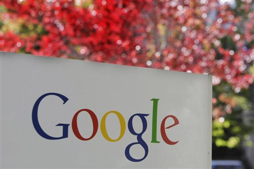 **FILE** The Google logo is seen at the company's headquarters in Mountain View, Calif. (Associated Press)