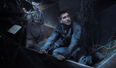 "Capt. Colter Stevens (Jake Gyllenhaal) uses the source code to investigate the final eight minutes before a train explosion in a scene from ""Source Code."" He must discover who planted the bomb before the next attack takes place."