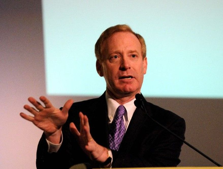 Microsoft General Counsel Brad Smith claims that Google restricts competing search engines, including Microsoft's Bing, from properly accessing YouTube. (Associated Press)