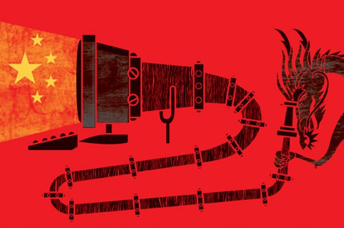 Illustration: China 'net by Linas Garsys for The Washington Times