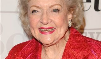 """FILE - In this Jan. 18, 2011 file photo, actress Betty White attends her 89th Birthday celebration hosted by TV Land, in New York. White is taking on reality TV with a hidden-camera show that turns senior citizens into merry pranksters.  NBC has ordered 12 episodes of """"Betty White's Off Their Rockers,"""" the working title for a series. The reality show follows seven seniors who band together to play pranks on younger people, with White helping conspire to put one over on """"the unsuspecting youth of America,"""" said NBC and Universal Media Studios executive Paul Telegdy. (AP Photo/Peter Kramer, file)"""