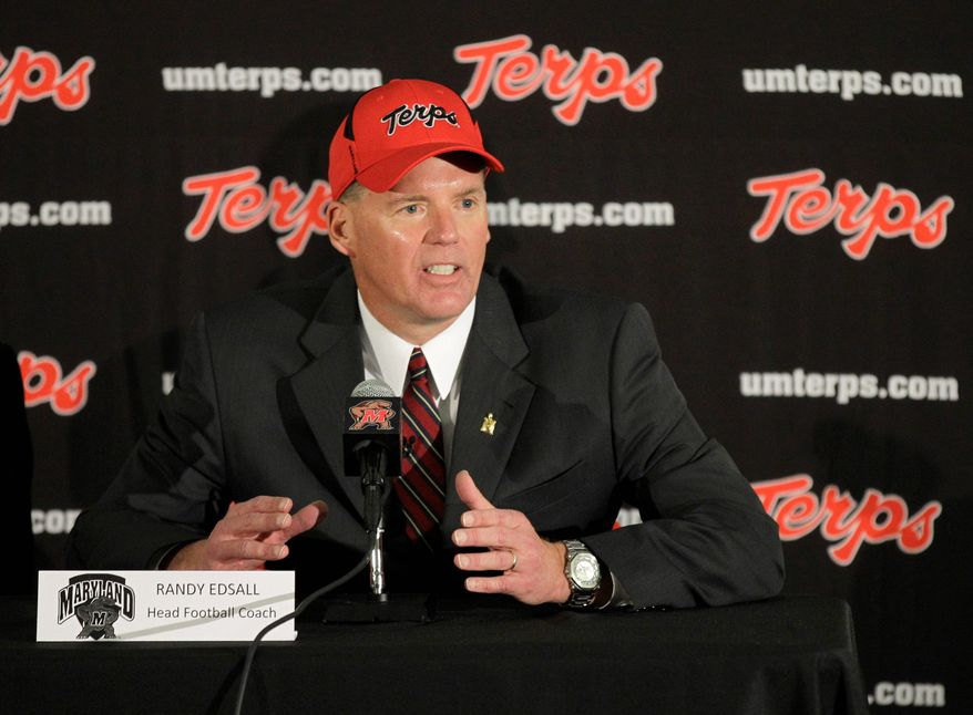 """""""We'll be compliant with the 82 for August and the thing is we have to play the cards that we were dealt,"""" said Maryland football coach Randy Edsall."""