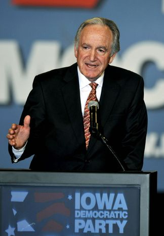 """Any reduction to the Pell program would come at a much higher cost for our country down the road,"" said Sen. Tom Harkin, Iowa Democrat, admitting ""tough budget decisions"" are ahead. Education Secretary Arne Duncan projected that the Pell Grant program that helps low-income students afford college could face a $20 billion shortfall in 2012. (Associated Press)"
