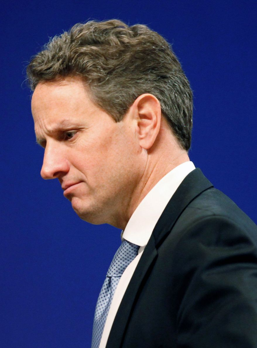 Treasury Secretary Timothy F. Geithner warned of a financial crisis if Congress doesn't raise the debt ceiling. He projects the U.S. will reach the current ceiling by no later than May 16. (Associated Press)