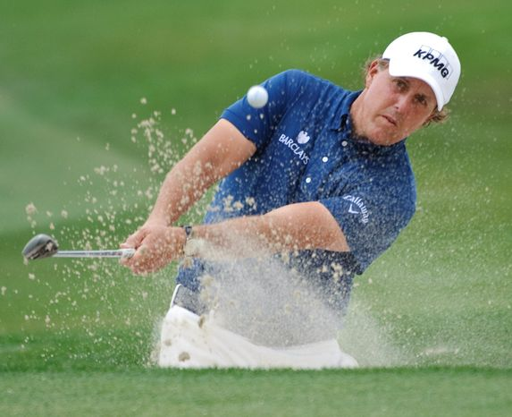 American Phil Mickelson has triumphed at the Masters three times since 1999, when Spaniard Jose Maria Olazabal was the last European to win the tournament. (Associat