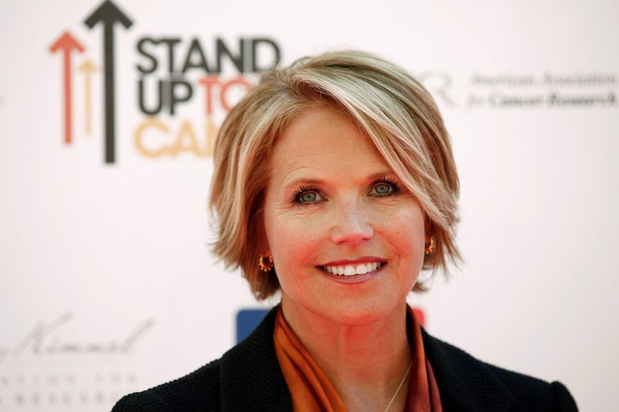 """Katie Couric, who reportedly is leaving her anchor post at """"CBS Evening News,"""" is expected to launch a syndicated talk show in 2012. Mrs. Couric was the first woman to solely helm a network TV evening newscast. (Associated Press)"""