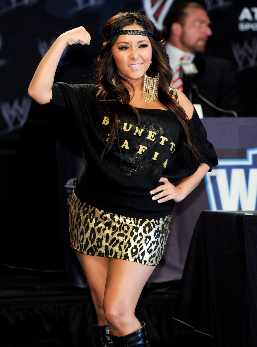 "Nicole ""Snooki"" Polizzi gave some advice to students at Rutgers: ""Study hard, but party harder."" (Associated Press)"